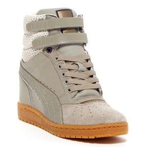 Puma Sky Wedge Sneaker Gray Size 9.5